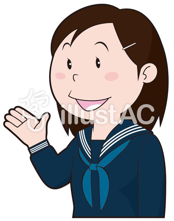 女子中学生イラスト No 76701無料イラストならイラストac
