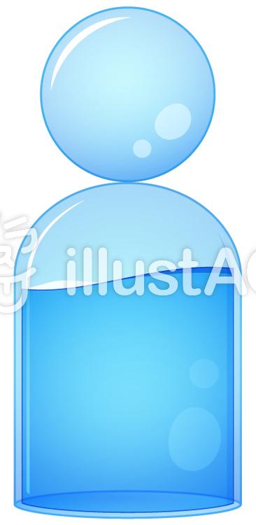 人間成人の身体の約60は水分ですイラスト No 1409727無料