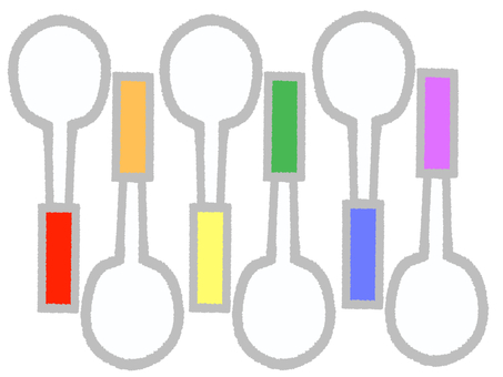 Multicolored spoons