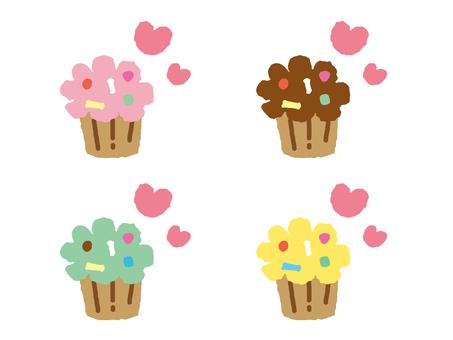 Cupcake _ 4 color set