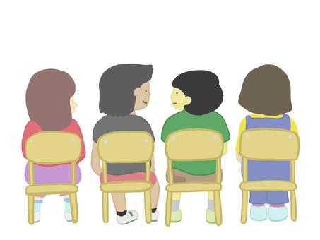 Children sitting in a chair 1