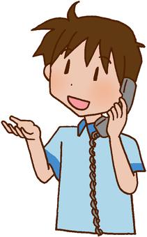 看護人/電話聯絡/信息交換