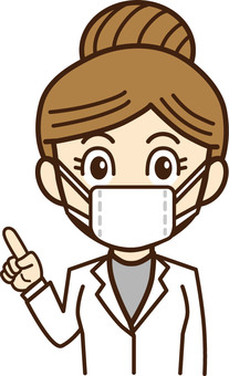 Doctor, female doctor, person illustration 20