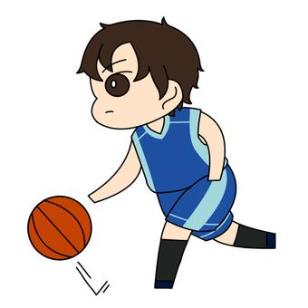 농구를하는 아이