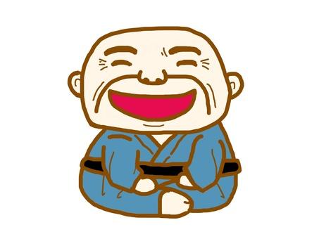 Oyaji, I laugh a lot.