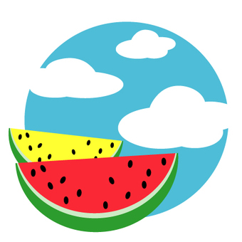 Watermelon and summer sky
