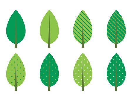 Leaves illustration set
