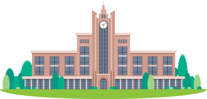 University campus school building