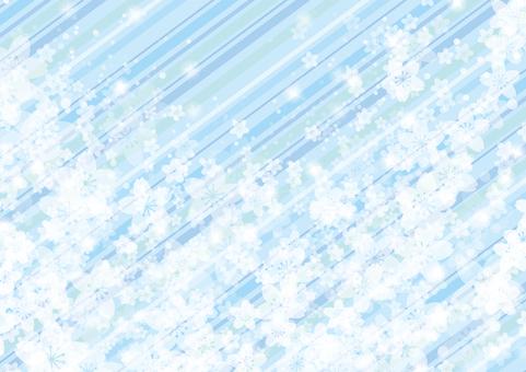 Sakura 41 - striped blue