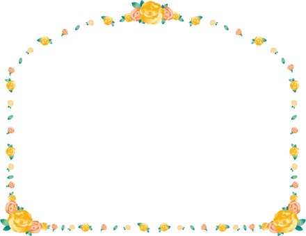 Rose yellow frame