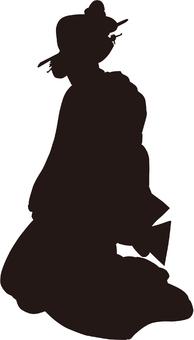 Ukiyo-e character silhouette part 126