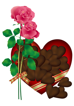 Heart Chocolate & Rose 14