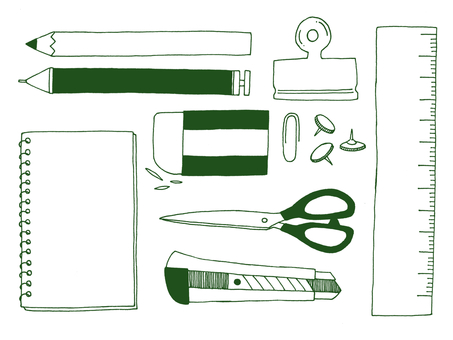 Stationery frame (green)