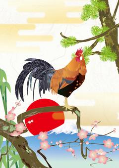 Naruko chicken_ details _ kimono pattern Shochiku Meishi _ Japanese paper