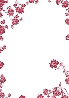 中華風 花柄