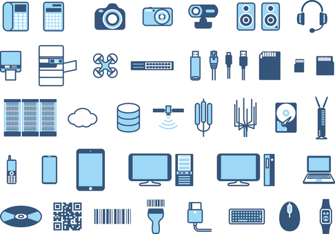 IT item equipment icon set
