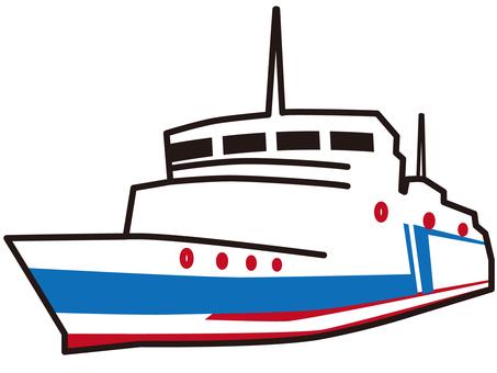 시가 초등학생이 비와코에서 학습하는 선박