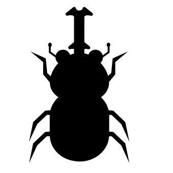 Beetle silhouette