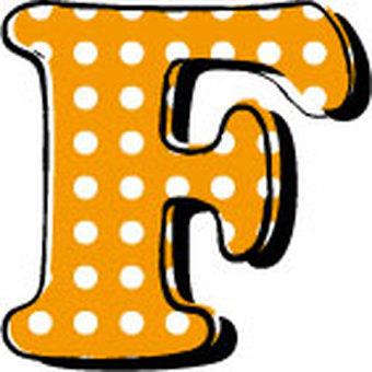 Dotted alphabet F