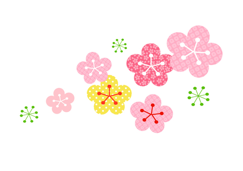Plum blossoms illustration
