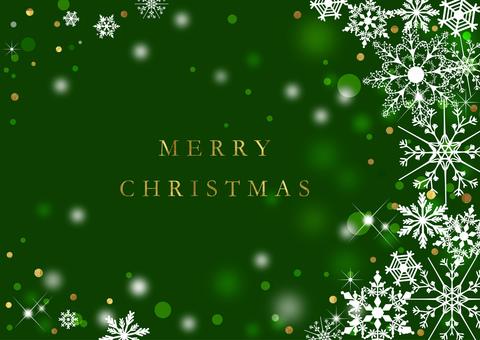 クリスマス_緑_背景2316