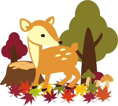 Autumn material decal