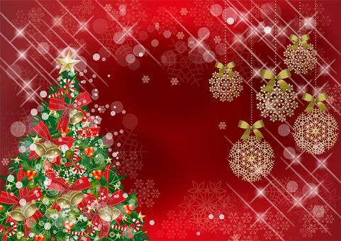 クリスマス&雪RED19