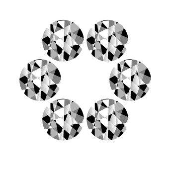 Round jewel - white