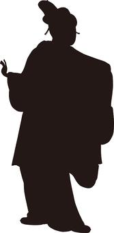 Ukiyo-e character silhouette part 129