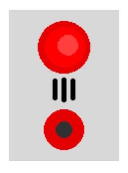 Push button fire alarm