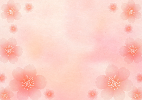 Sakura Japanese paper pink background