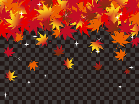 Japanese style autumn background maple