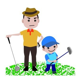 Parent and child of golf