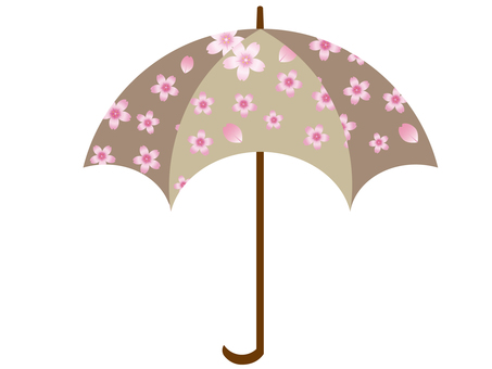 雨傘(櫻花圖案)4