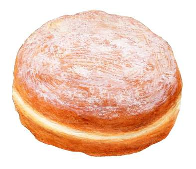 Berliner (fried cream bread)