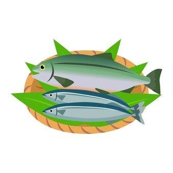 Salmon and autumn sweetfish