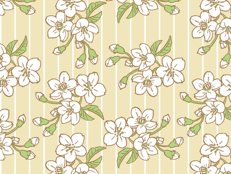 Spring cherry Tile pattern (repeat) A03