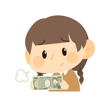 A woman with 1000 yen bill