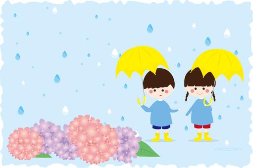Rainy season and children