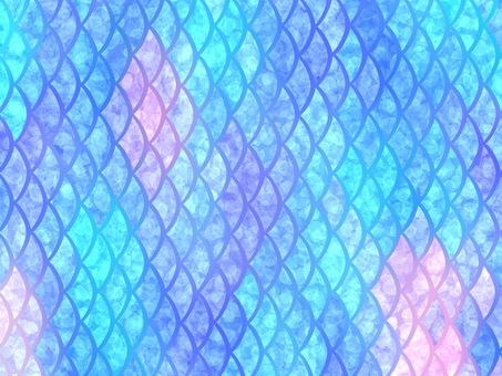Salmon fish mermaid blue pink glitter