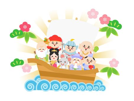 Treasure ship, Shichifukujin and mouse