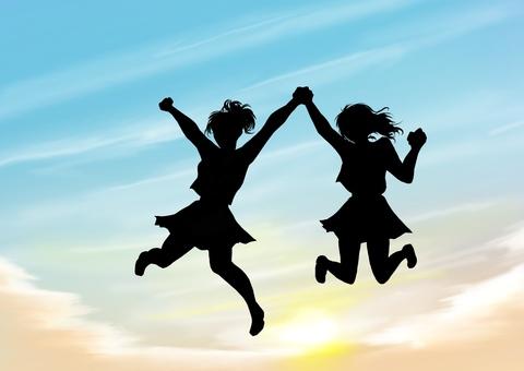 Friendship silhouette