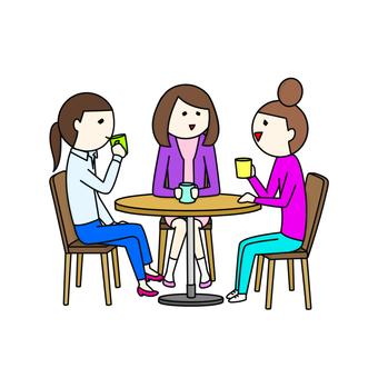 3 women who tea