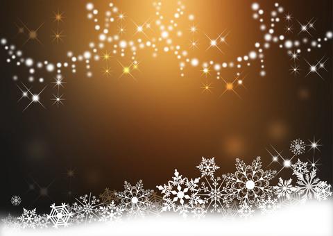 Snow crystal _ tea background