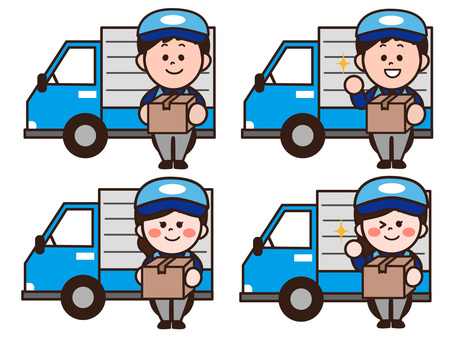 Moving female staff of a moving company
