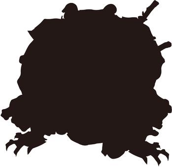 Ukiyo-e silhouette 346