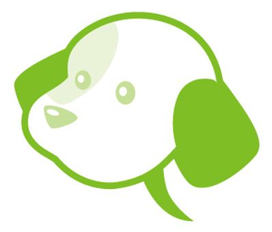 Dog balloon _ green