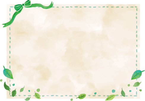 Watercolor background and frame · Fresh green