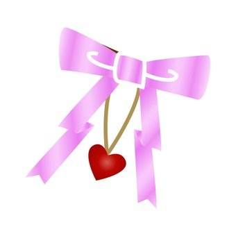 Ribbon and heart decorations