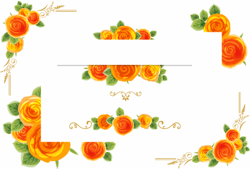 Rose decoration frame 07